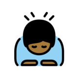 Person Bowing: Medium-Dark Skin Tone on OpenMoji 12.2