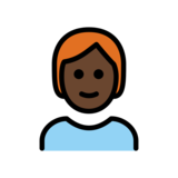 Person: Dark Skin Tone, Red Hair on OpenMoji 12.2