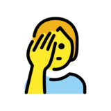 Person Facepalming on OpenMoji 12.2