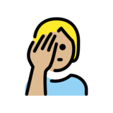 Person Facepalming: Medium-Light Skin Tone on OpenMoji 12.2