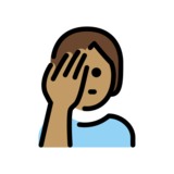 Person Facepalming: Medium Skin Tone on OpenMoji 12.2