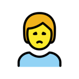Person Frowning on OpenMoji 12.2