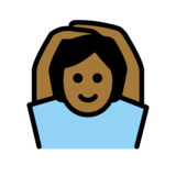 Person Gesturing OK: Medium-Dark Skin Tone on OpenMoji 12.2
