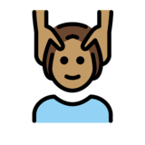 Person Getting Massage: Medium Skin Tone on OpenMoji 12.2