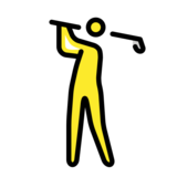 Person Golfing on OpenMoji 12.2