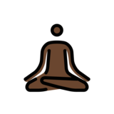 Person in Lotus Position: Dark Skin Tone on OpenMoji 12.2