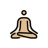 Person in Lotus Position: Medium-Light Skin Tone on OpenMoji 12.2