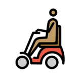 Person in Motorized Wheelchair: Medium Skin Tone on OpenMoji 12.2