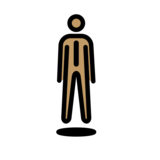 Person in Suit Levitating: Medium Skin Tone on OpenMoji 12.2