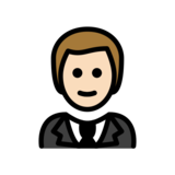 Person in Tuxedo: Light Skin Tone on OpenMoji 12.2
