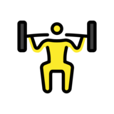 Person Lifting Weights on OpenMoji 12.2