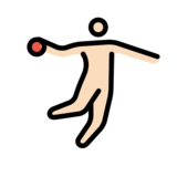 Person Playing Handball: Light Skin Tone on OpenMoji 12.2