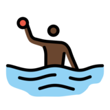 Person Playing Water Polo: Dark Skin Tone on OpenMoji 12.2