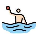 Person Playing Water Polo: Light Skin Tone on OpenMoji 12.2
