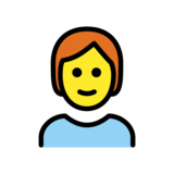 Person: Red Hair on OpenMoji 12.2