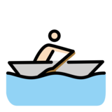 Person Rowing Boat: Light Skin Tone on OpenMoji 12.2