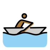 Person Rowing Boat: Medium-Dark Skin Tone on OpenMoji 12.2