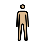 Person Standing: Medium-Light Skin Tone on OpenMoji 12.2