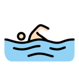 Person Swimming: Light Skin Tone on OpenMoji 12.2