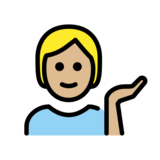 Person Tipping Hand: Medium-Light Skin Tone on OpenMoji 12.2
