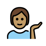 Person Tipping Hand: Medium Skin Tone on OpenMoji 12.2