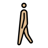 Person Walking: Medium-Light Skin Tone on OpenMoji 12.2