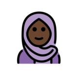 Woman with Headscarf: Dark Skin Tone on OpenMoji 12.2