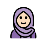 Woman with Headscarf: Light Skin Tone on OpenMoji 12.2