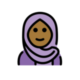 Woman with Headscarf: Medium-Dark Skin Tone on OpenMoji 12.2