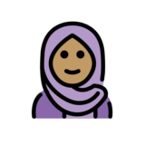 Woman with Headscarf: Medium Skin Tone on OpenMoji 12.2