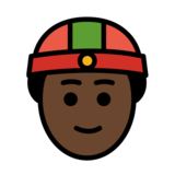 Person With Skullcap: Dark Skin Tone on OpenMoji 12.2