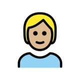 Person: Medium-Light Skin Tone on OpenMoji 12.2