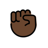 Raised Fist: Dark Skin Tone on OpenMoji 12.2