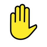 Raised Hand on OpenMoji 12.2