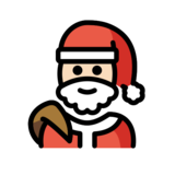 Santa Claus: Light Skin Tone on OpenMoji 12.2
