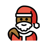 Santa Claus: Medium-Dark Skin Tone on OpenMoji 12.2