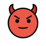 Smiling Face with Horns on OpenMoji 12.2
