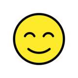 Smiling Face with Smiling Eyes on OpenMoji 12.2