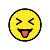 Squinting Face with Tongue on OpenMoji 12.2