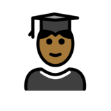 Student: Medium-Dark Skin Tone on OpenMoji 12.2