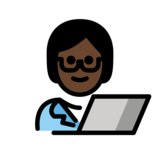 Technologist: Dark Skin Tone on OpenMoji 12.2