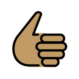 Thumbs Up: Medium Skin Tone on OpenMoji 12.2