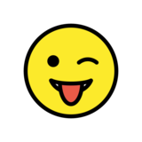 Winking Face with Tongue on OpenMoji 12.2