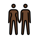 Woman and Man Holding Hands: Dark Skin Tone on OpenMoji 12.2
