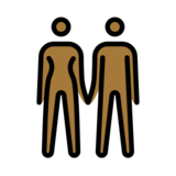 Woman and Man Holding Hands: Medium-Dark Skin Tone on OpenMoji 12.2