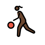 Woman Bouncing Ball: Dark Skin Tone on OpenMoji 12.2