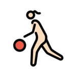 Woman Bouncing Ball: Light Skin Tone on OpenMoji 12.2
