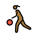 Woman Bouncing Ball: Medium-Dark Skin Tone on OpenMoji 12.2