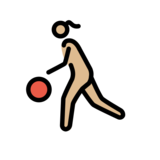 Woman Bouncing Ball: Medium-Light Skin Tone on OpenMoji 12.2