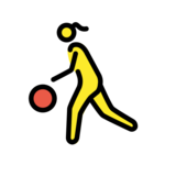 Woman Bouncing Ball on OpenMoji 12.2